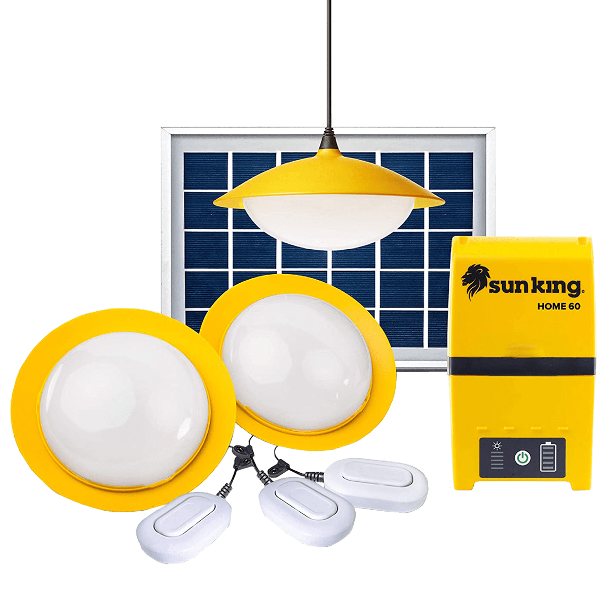 Sun King Home 60 2.1 Watts Solar Powered Pendant Light (300 Lumens, SK-403, Yellow/White)_1