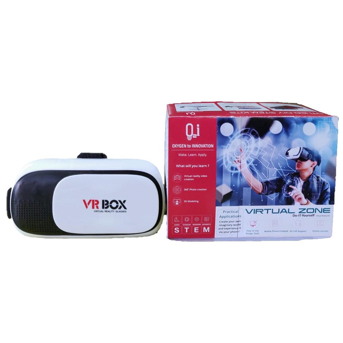 O2i Virtual Zone Virtual Reality Headset for  Gaming Console (EDU-VR-003, Black)_1