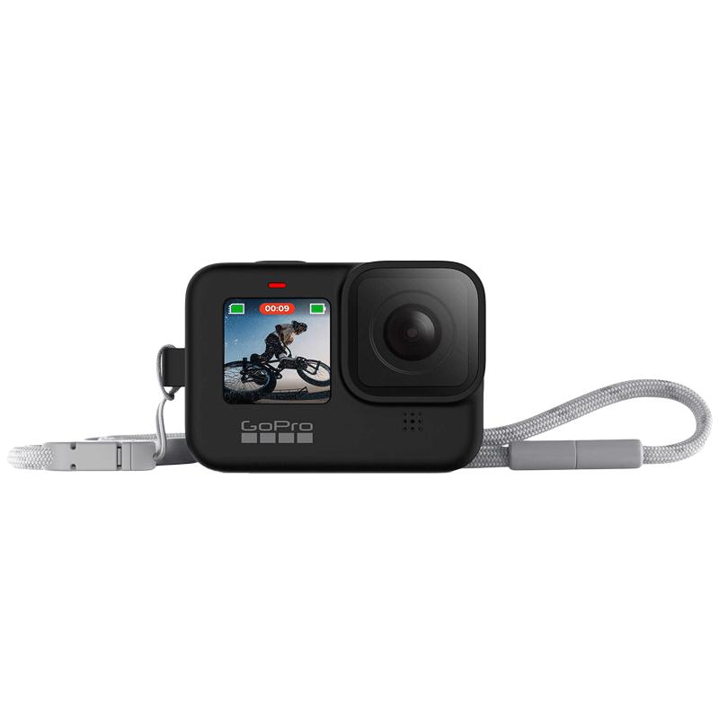 GoPro Sleeve Plus Lanyard For Hero 9 (Adjustable Lanyard, ADSST-001, Black)_1