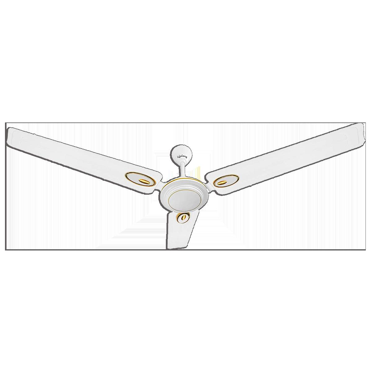 Lifelong 120cm Sweep 3 Blades Ceiling Fan (Efficient Copper Motor, LLCF301, White)_1
