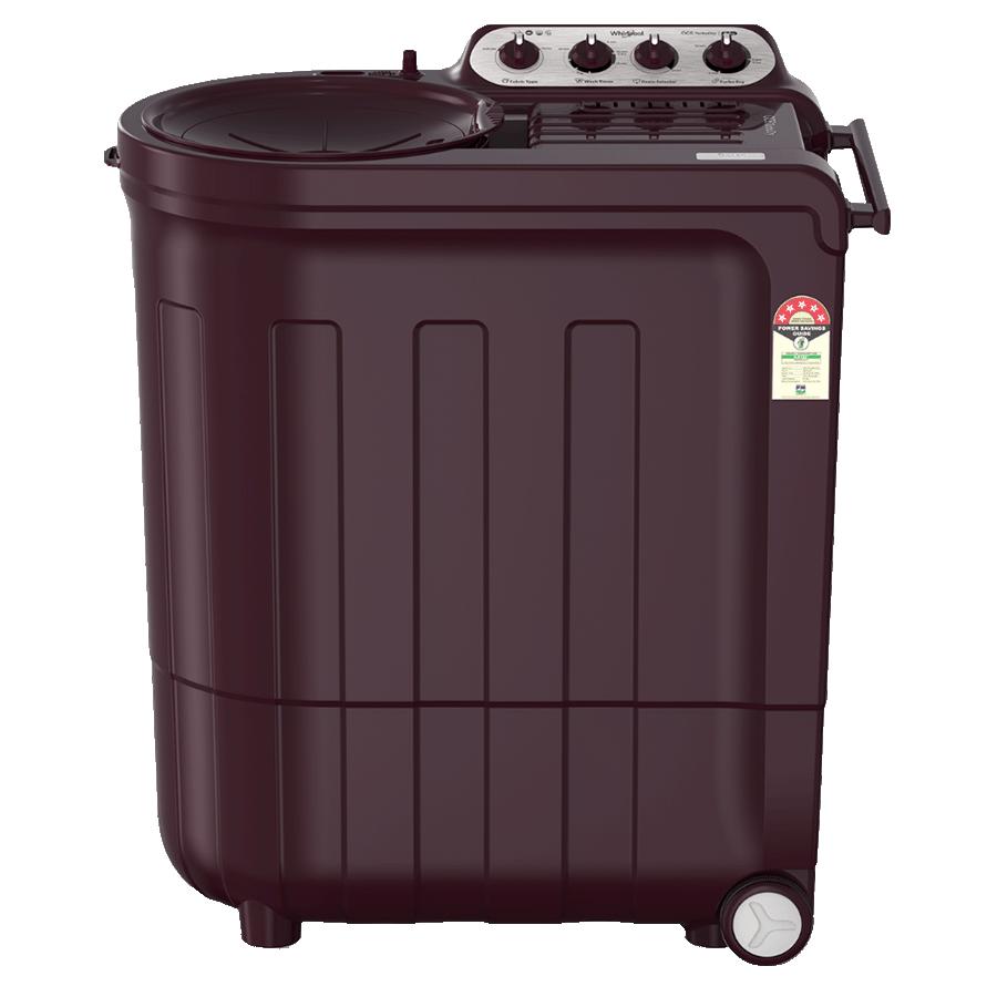 Whirlpool Ace Turbo Dry 7.5 kg 5 Star Top Load Semi-Automatic Washing Machine (Turbodry Technology, Wine Dazzle)_1