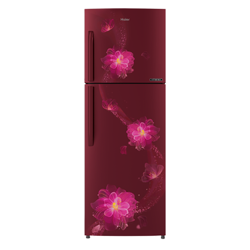 Haier 258 Litres 3 Star Frost Free Inverter Double Door Refrigerator (5-in-1 Convertible, HRF-2784CRB-E, Red)_1