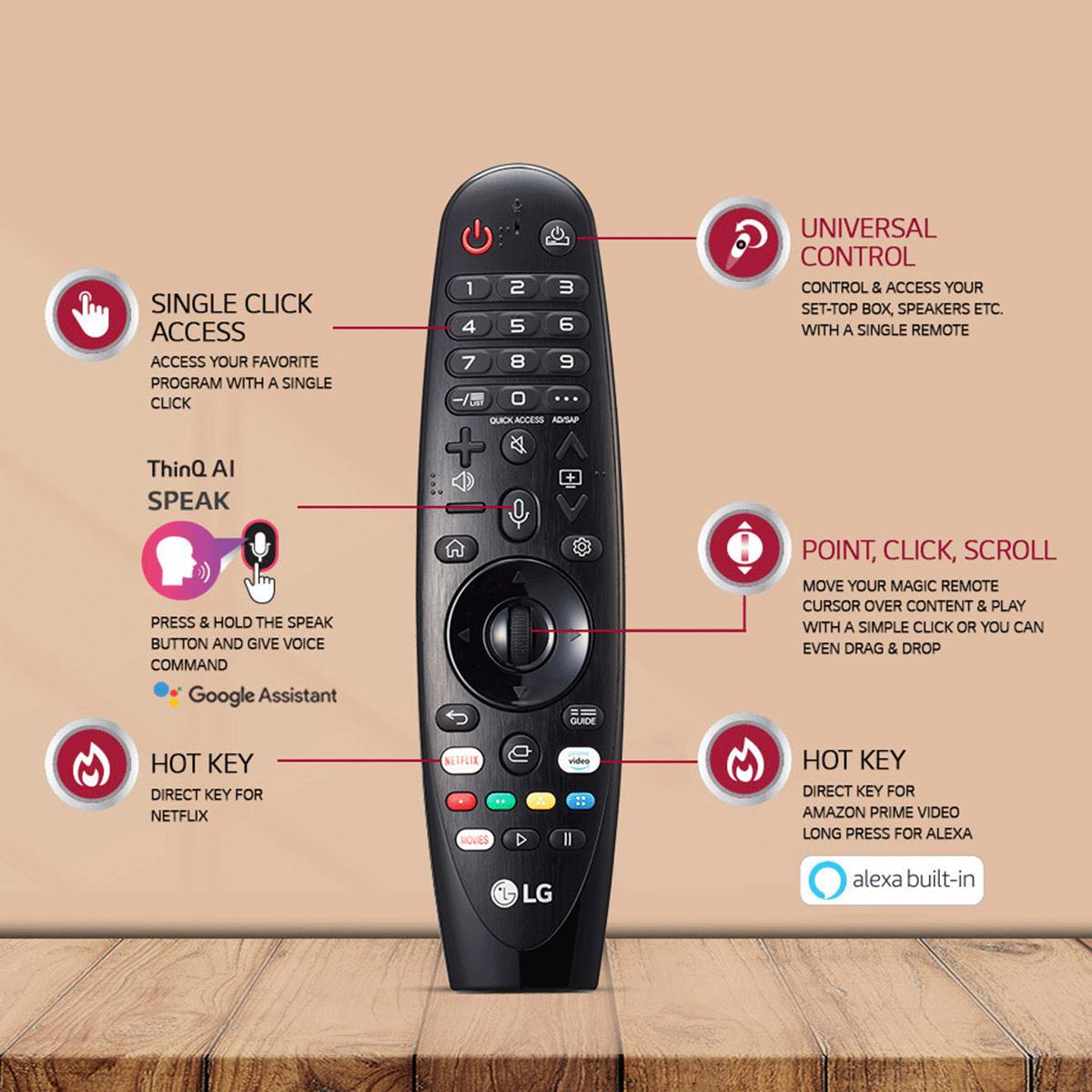 LG 108cm (43 Inch) 4K Ultra HD LED Smart TV (Google Assistant, 43UM7780, Ceramic Black) 7