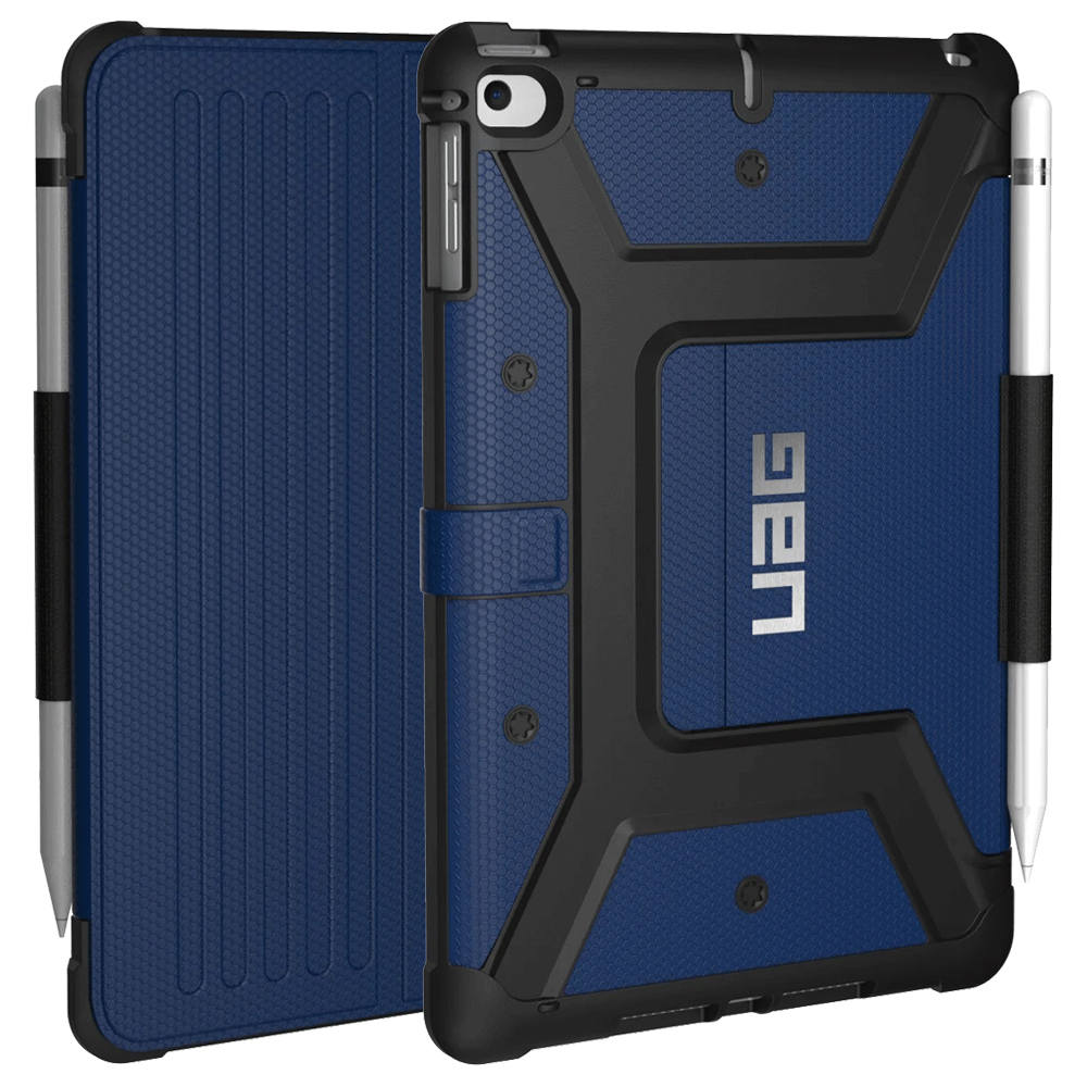 UAG Metropolis Thermoplastic Polyurethane, Felt Lining, Polyurethane Flip Case For iPad Mini 7.9 Inch (Feather-Light Composite Construction, UGMP_IPDM4_CB, Cobalt)_1