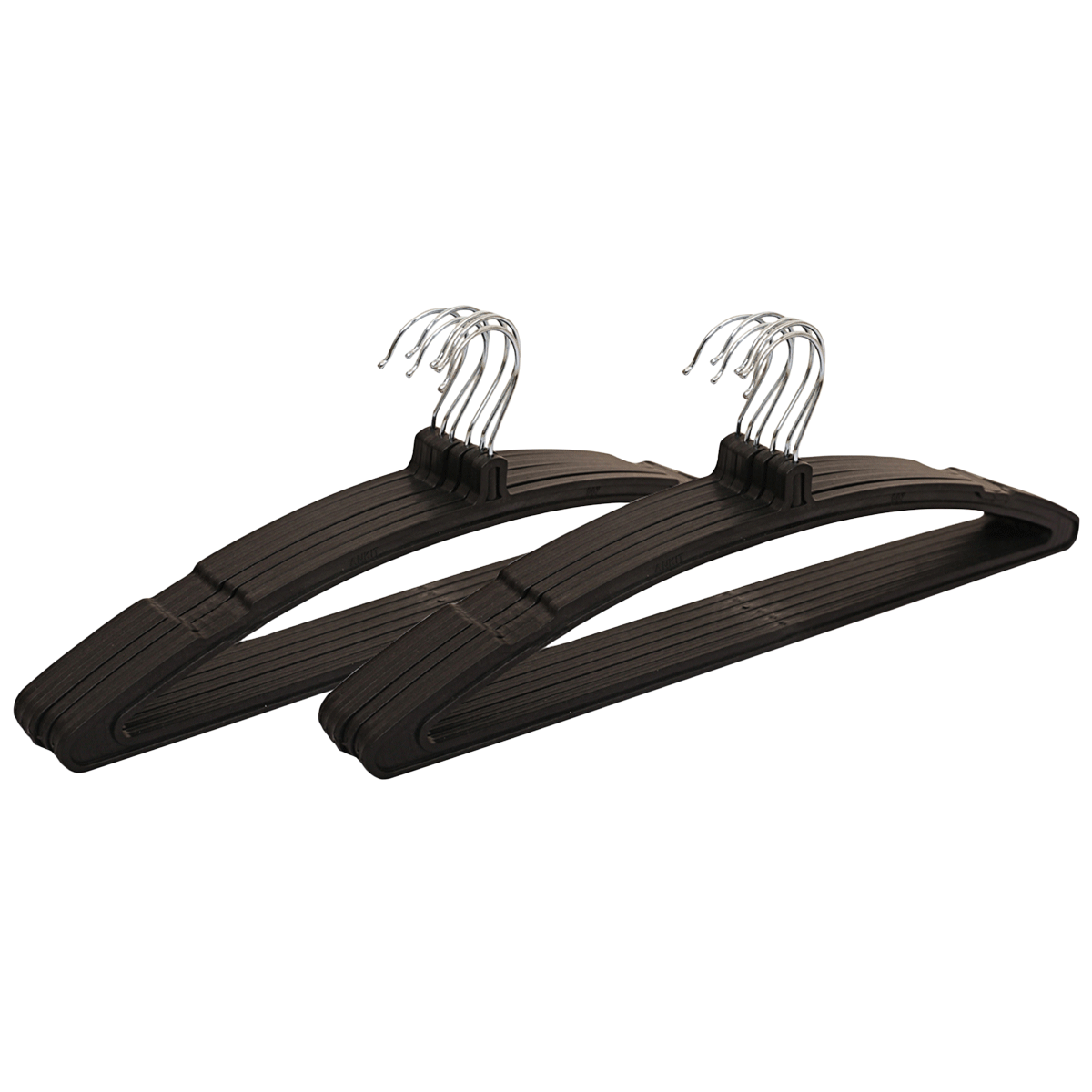 Kuber Industries Plastic 12 Pieces Hangers (Ultra-slim Profile, CTHANG006, Black)_1