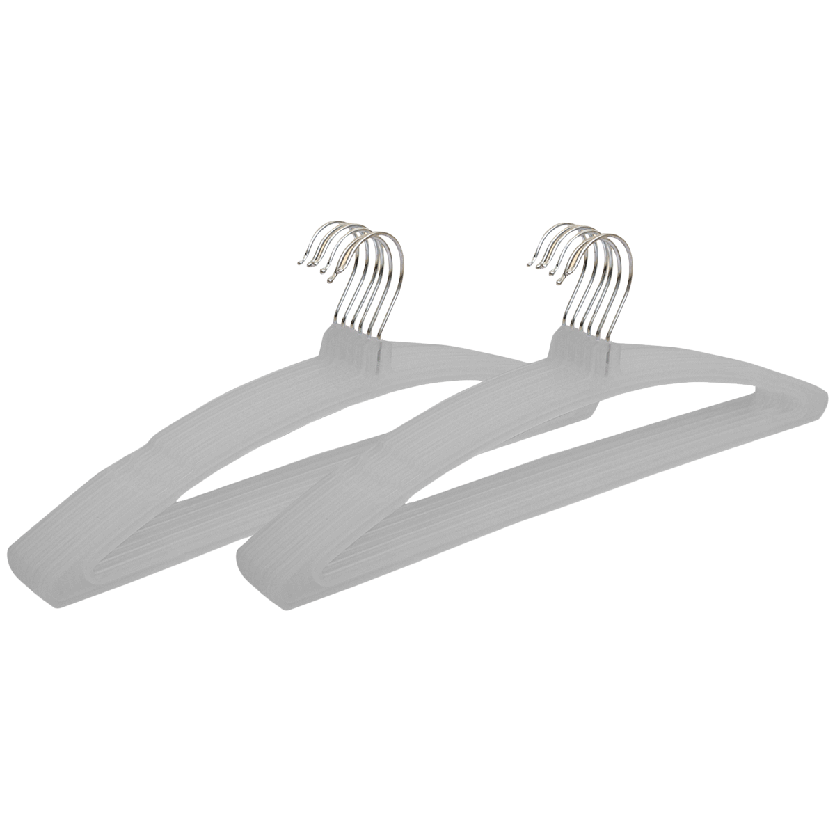 Kuber Industries Plastic 12 Pieces Hangers (Ultra-slim Profile, CTHANG010, Grey)_1