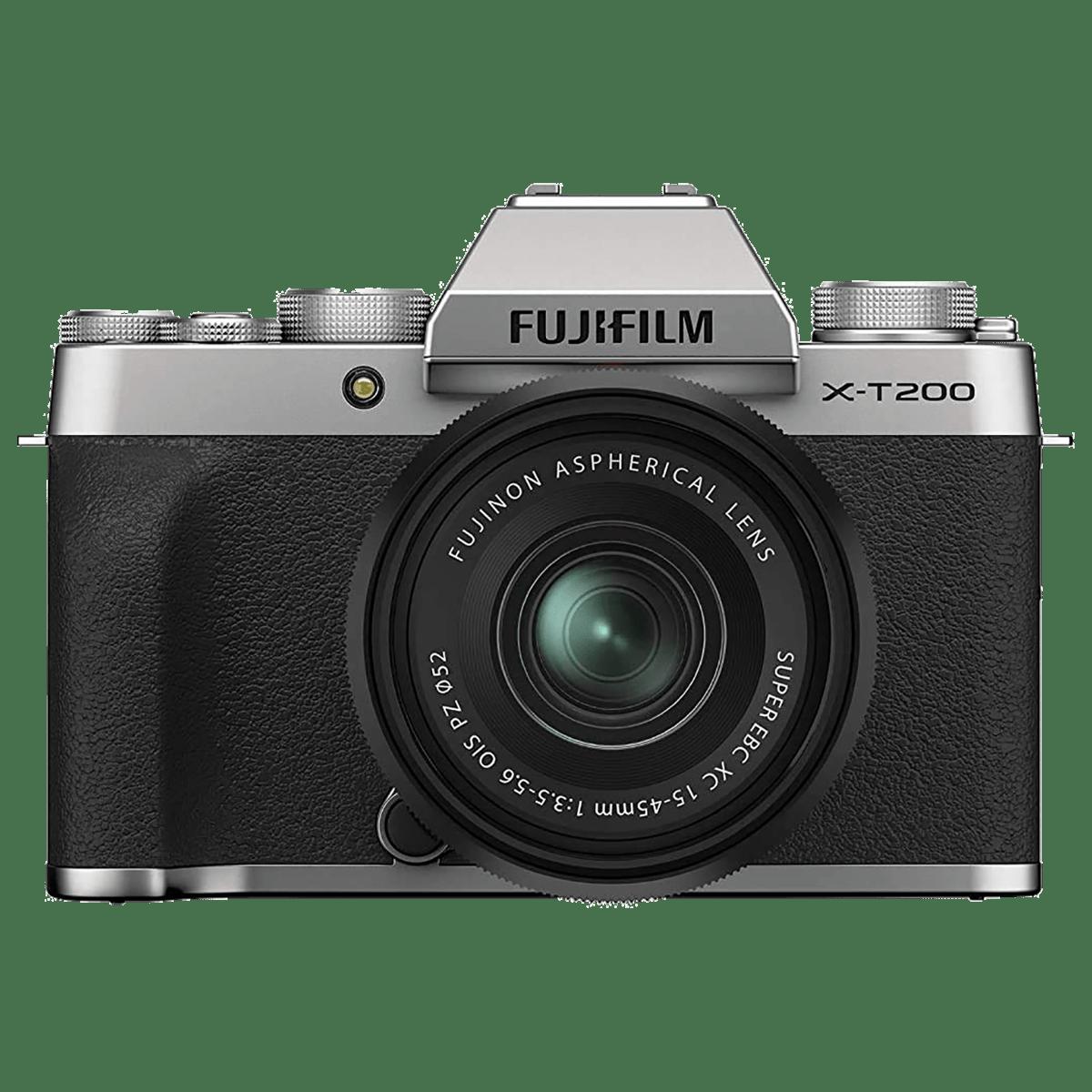 Fujifilm X-T200 24.2MP Mirrorless Camera (Built-in Lens, HDR Movie Mode, 16647123, Silver)_1