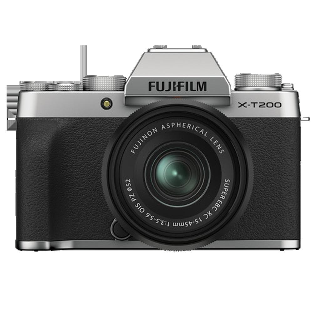 Fujifilm X-T200 24.2MP Mirrorless Camera (Built-in Lens, HDR Movie Mode, 16646038, Dark Silver)_1