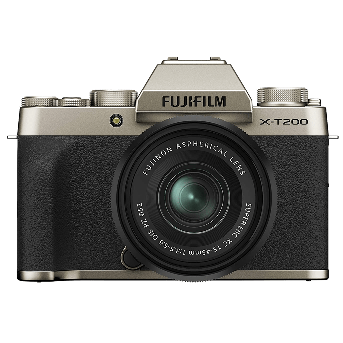 Fujifilm X-T200 24.2MP Mirrorless Camera (Built-in Lens, HDR Movie Mode, 16646442, Champagne Gold)_1