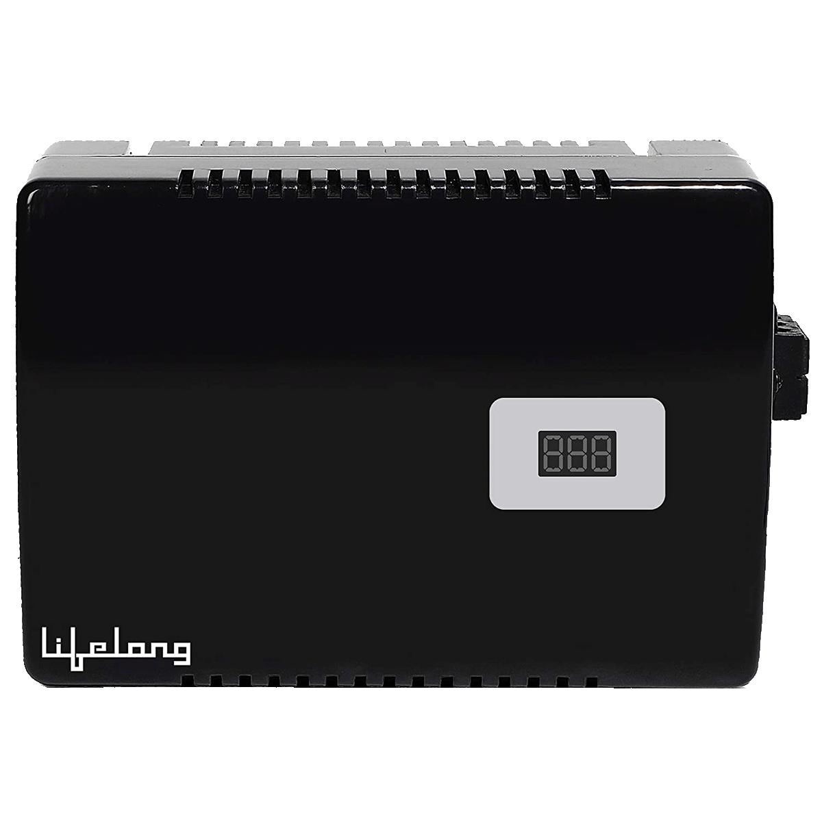 Lifelong 160-280V Air Conditioner Voltage Stabilizer for up to 1.5 Ton (LLVST400, Black)_1