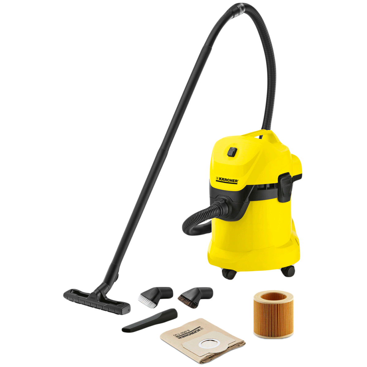 Karcher WD Wet & Dry Vacuum Cleaner (17 Litres, WD3, Yellow)_1