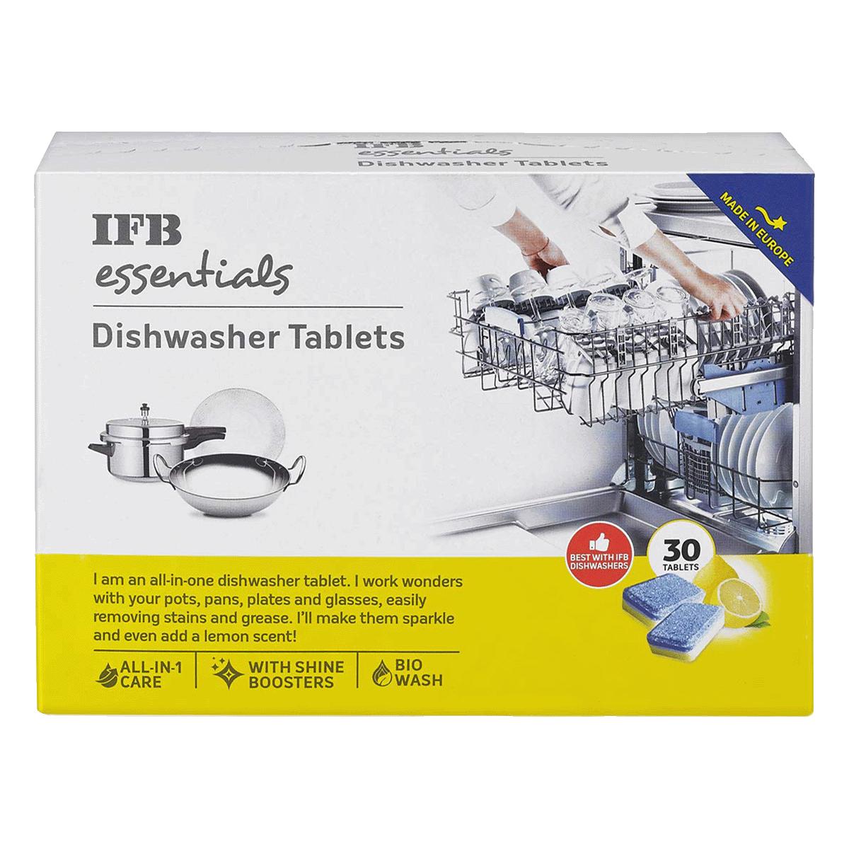 IFB Essentials Dishwasher Tablets (30 tablets (540gm), Dishwasher Tablets, White)_1