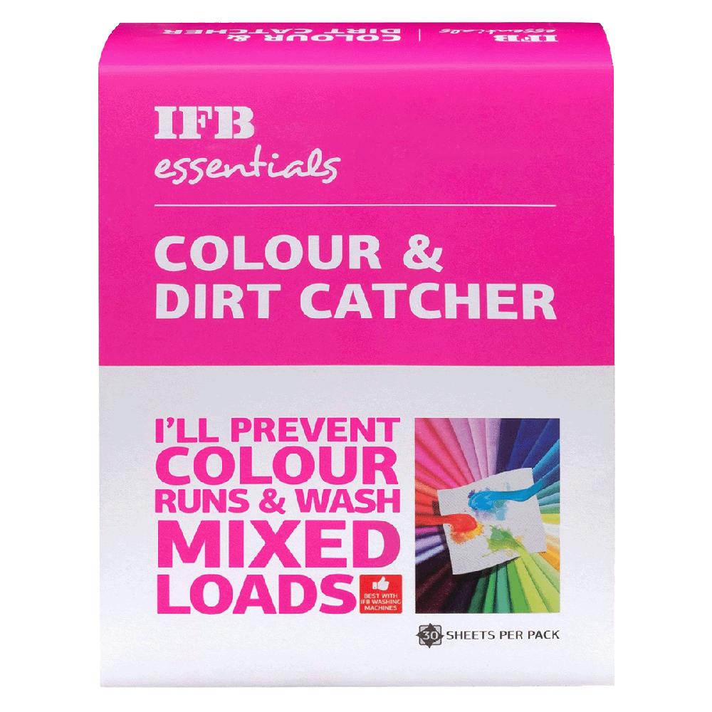 IFB Essentials Colour and Dirt Catcher (30 Sheets, Colour catcher, White)_1