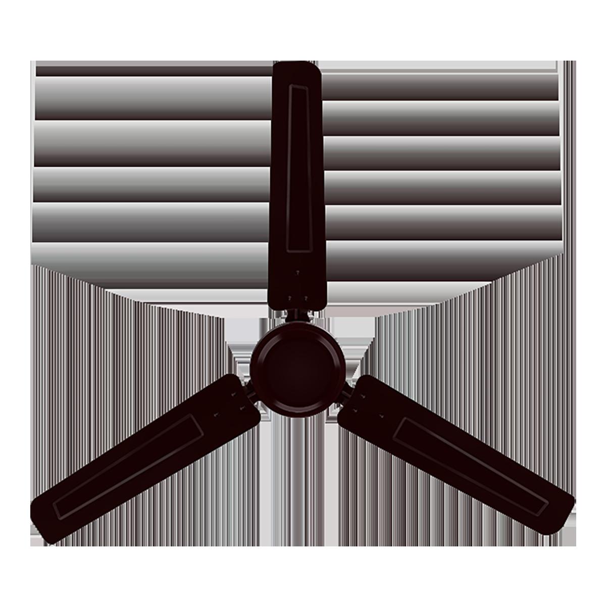 Hindware Aerochamp 120 cm Sweep 3 Blades Ceiling Fan (CF-AEROCHAMP-48-BR, Brown)_1