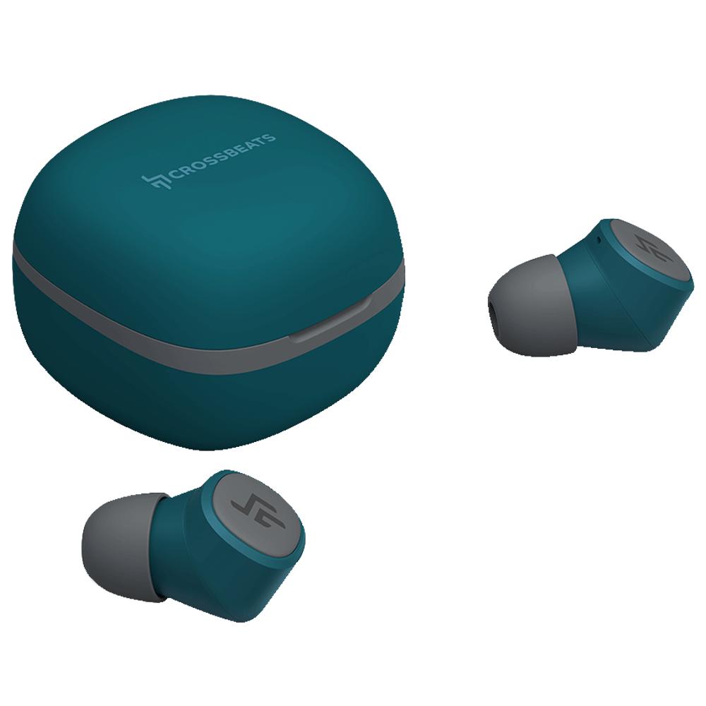 Crossbeats Urban In-Ear Wireless Earbuds with Built-in Microphone (Bluetooth, Smart On/Off, CB-URBAN-BLU, Blue)_1