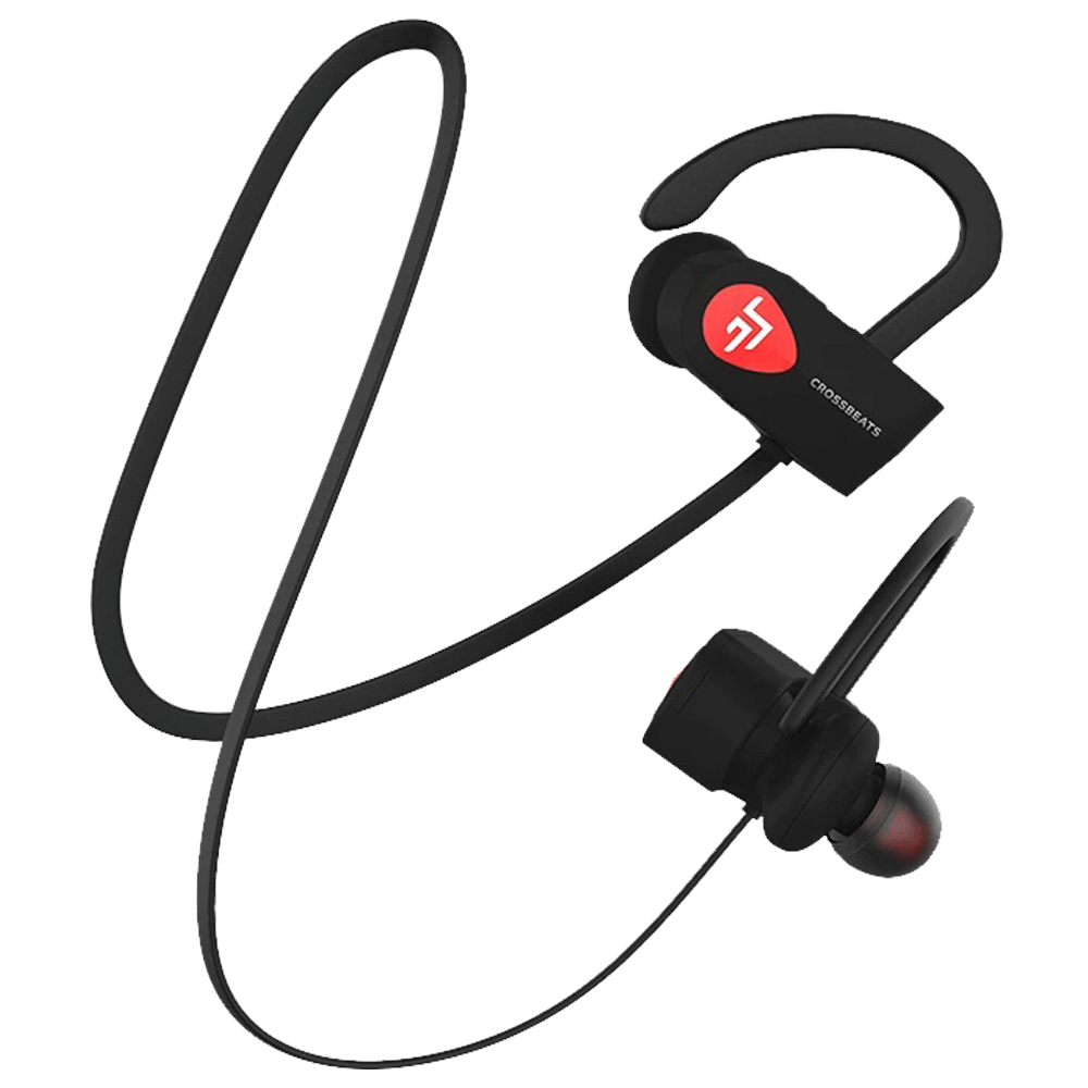 Crossbeats Wave Over-Ear Wireless Headphones with Microphone (Bluetooth, CB-WAVE-BLK, Black)_1