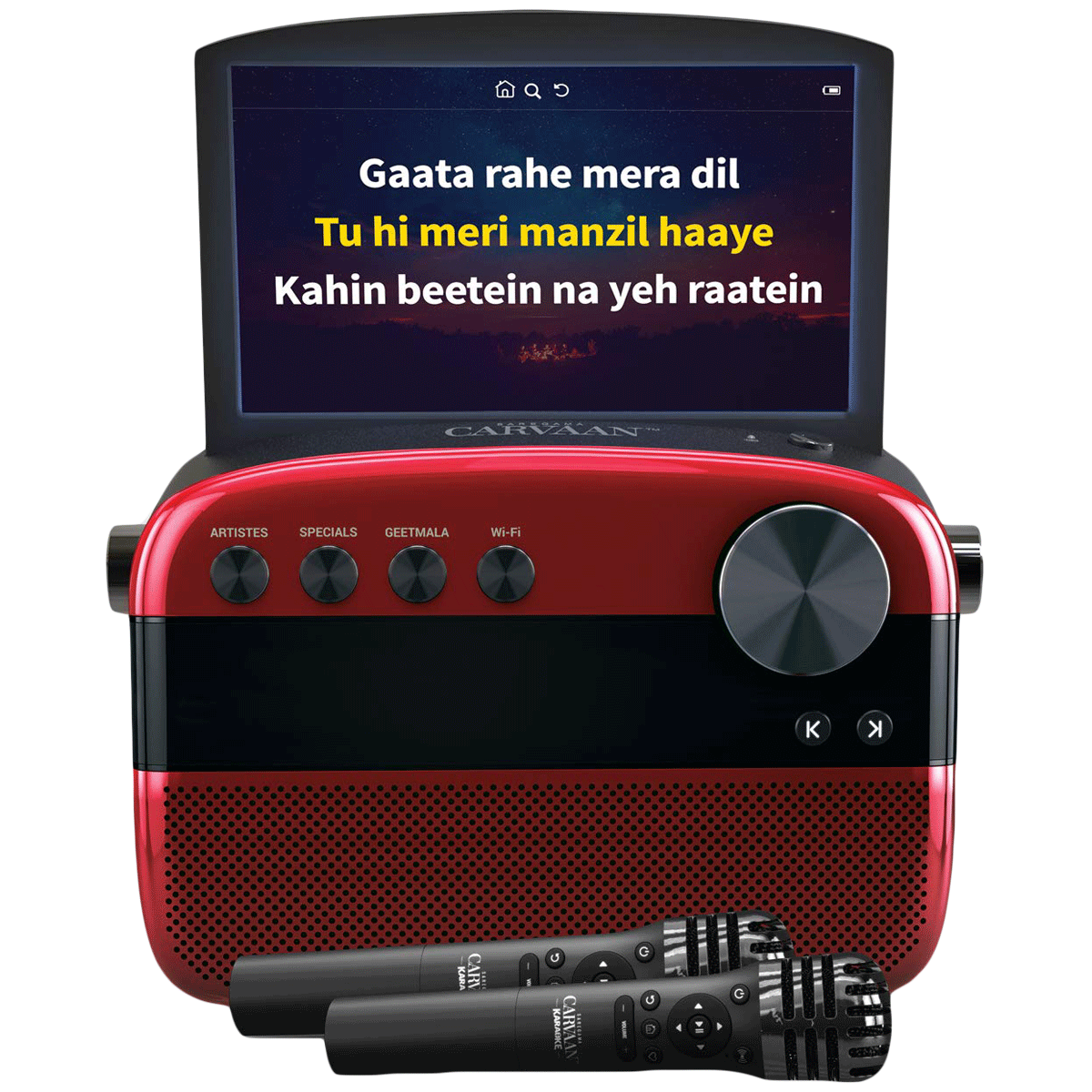 Saregama Carvaan 10 Watts MP3 Player (1000 Pre-loaded Karaoke Tracks, RD0MA0740032, Red)_1