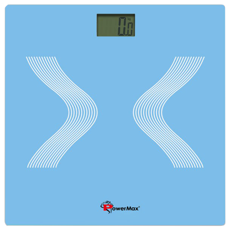 PowerMax Weight Scale (Step-on Technology, Precision Sensors, BSD-2, Twitter Blue)_1