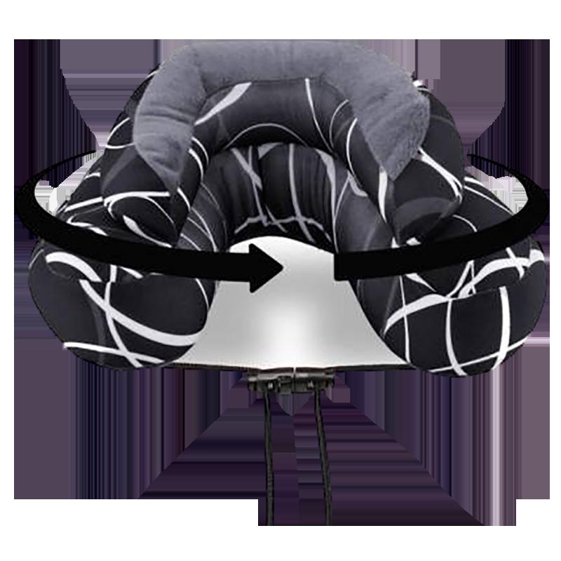 Cabeau Evo Microbead Travel Neck Pillow (TPEM2115, Black)_1