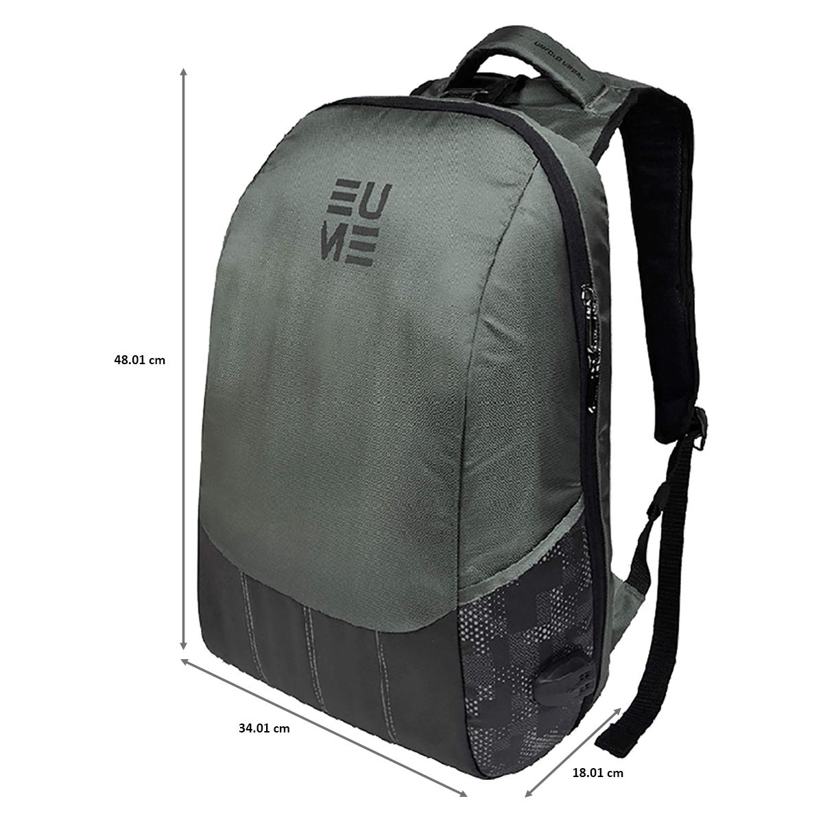 EUME Wave 26 Litres Massager Backpack for Laptop (Grey)_2