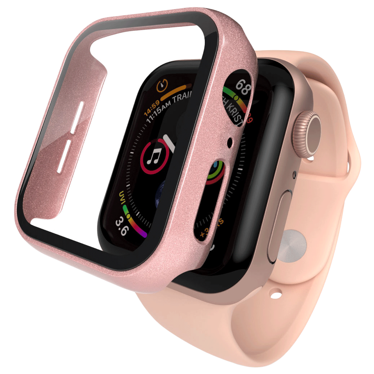 Hyphen Screen Guard For Apple Watch Series SE/4/5/6 (HAW-RG448844, Rose Gold)_1