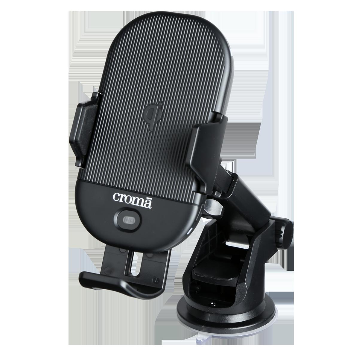 Croma 15 Watts Car Charging Adapter (Air Vent Clamp, CRCA2306, Black)