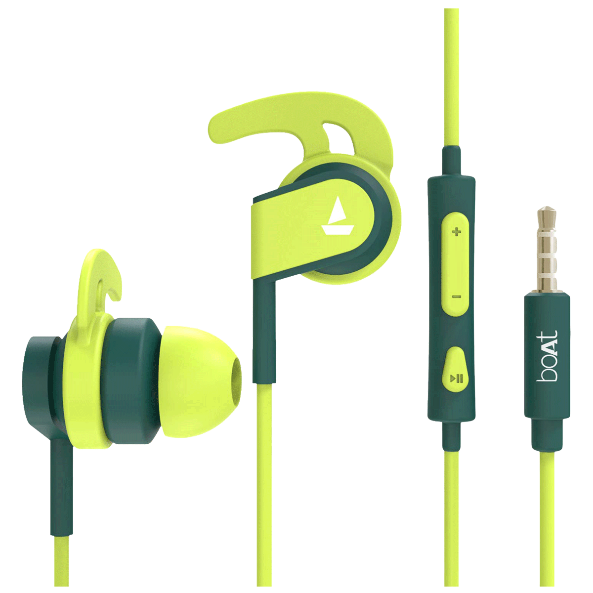 Boat BassHeads 242 In-Ear Wired Earphone with Mic (HD Inspirational Sound, Neon Green)_1