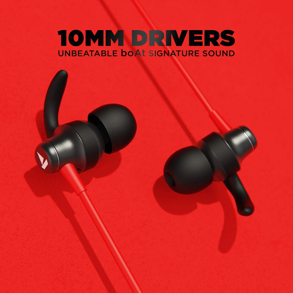 boAt Rockerz 335 In-Ear Wireless Earphone with Mic (Bluetooth 5.0, Voice Assistant Support, Raging Red)_2