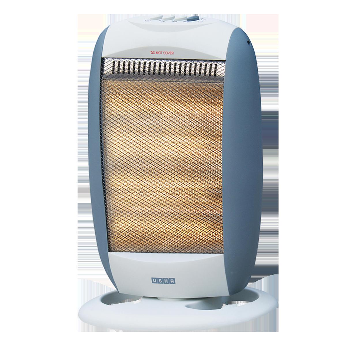 Usha 1200 Watts Halogen Room Heater (Automatic Oscillation, HH3303, Silver)_1