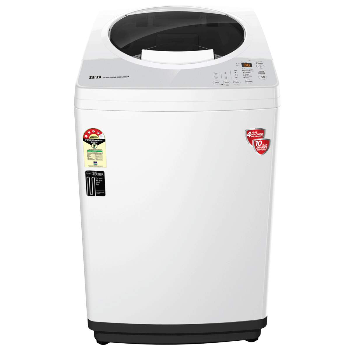 IFB Aqua 6.5 kg 5 Star Fully Automatic Top Load Washing Machine (Smart Weight Sensor, Inbuilt Heater, TL-REWH, PCM - White)_1