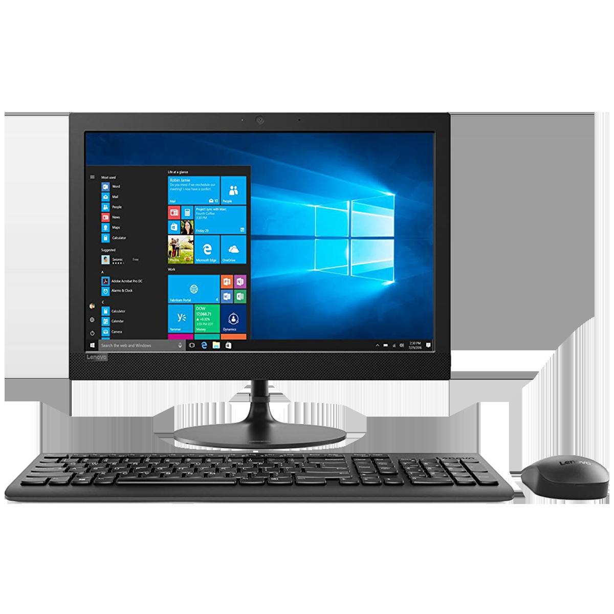Lenovo IdeaCentre AIO 330-20IGM (F0D7008KIN) Pentium Silver Windows 10 Home All-in-One Desktop (4GB RAM, 1TB HDD, Intel UHD 605 Graphics, MS Office, 49.53cm. Black)_1