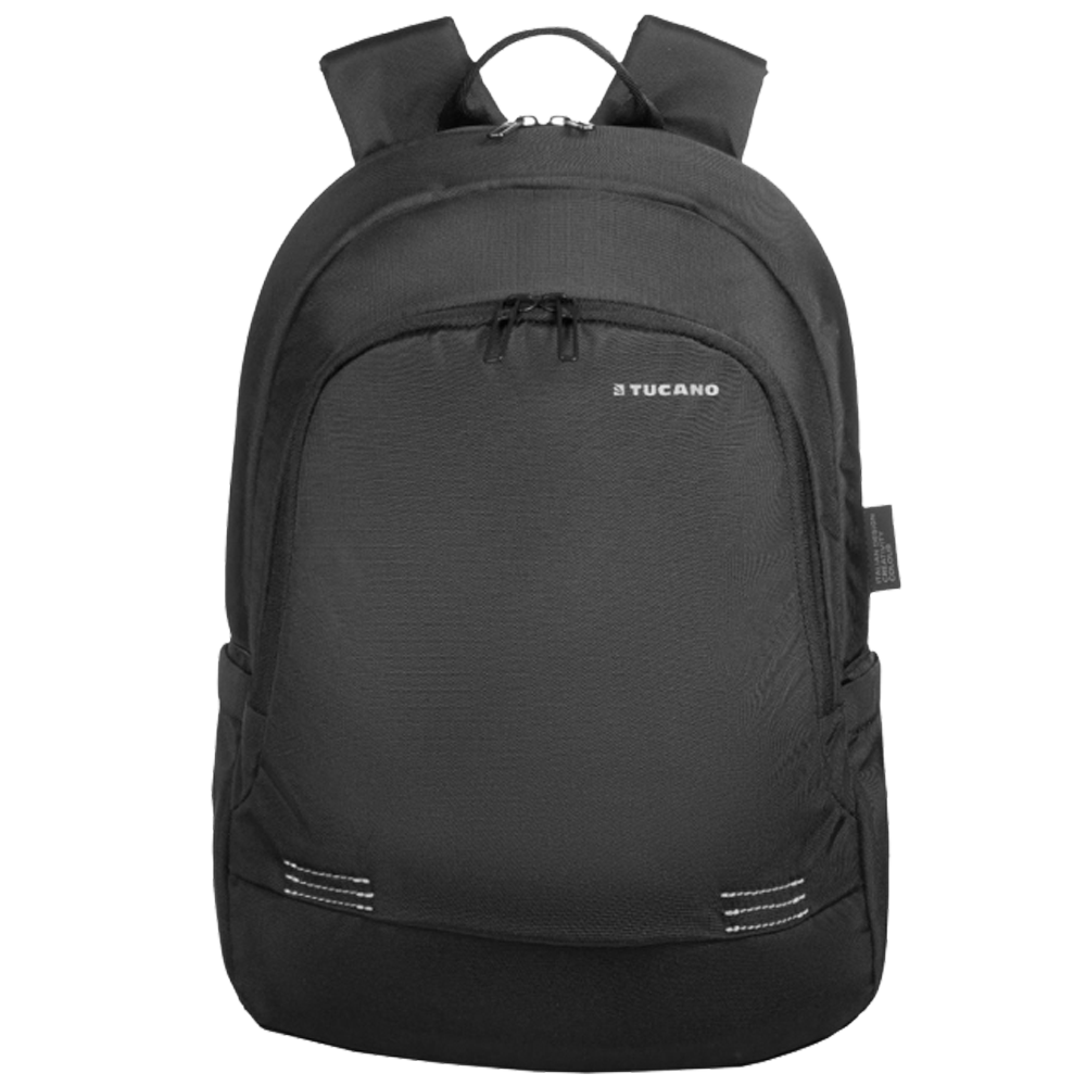 Tucano Forte 27 Litres Nylon Backpack for 14 Inch Laptop and 15 Inch MacBook (Adjustable Shoulder Straps, BKFOR14-BK, Black)_1
