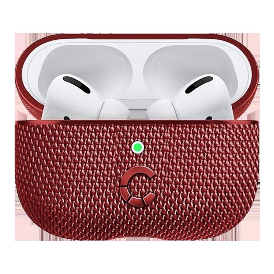 Cygnett TekView Slip Resistant Fabric Full Case Cover for Apple AirPods Pro 2nd Generation (CY3119TEKVI, Red)_1
