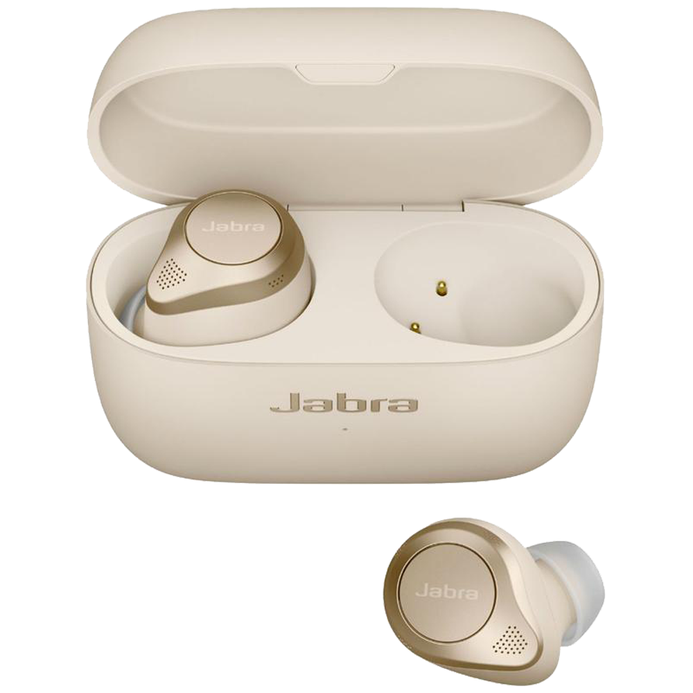 Jabra Elite 85t In-Ear Truly Wireless Earbuds with Mic (Bluetooth 5.1, Adjustable Sound, 100-99190004-40, Gold Beige)_1