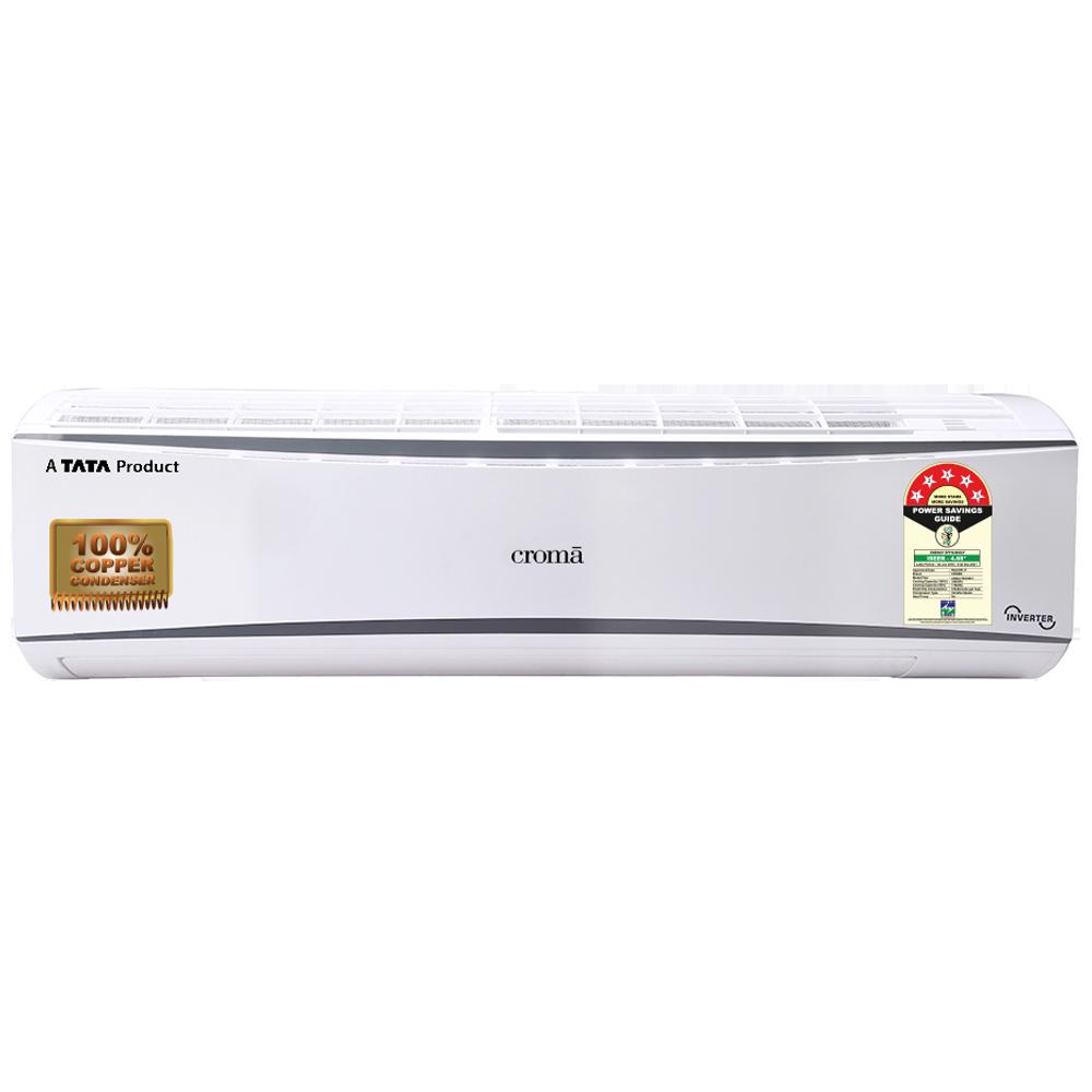 Croma 1 Ton 5 Star Inverter Split AC (Copper Condenser, CRAC7704, White)_1
