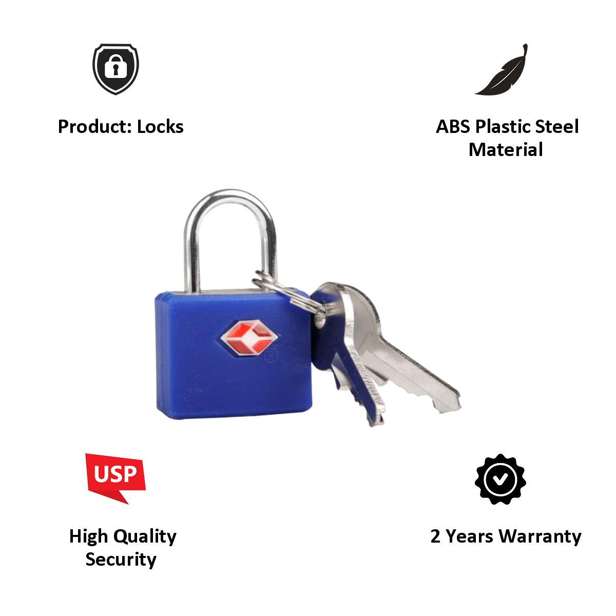 Travel Blue TSA High Security Lock (TB-027B, Blue)_4