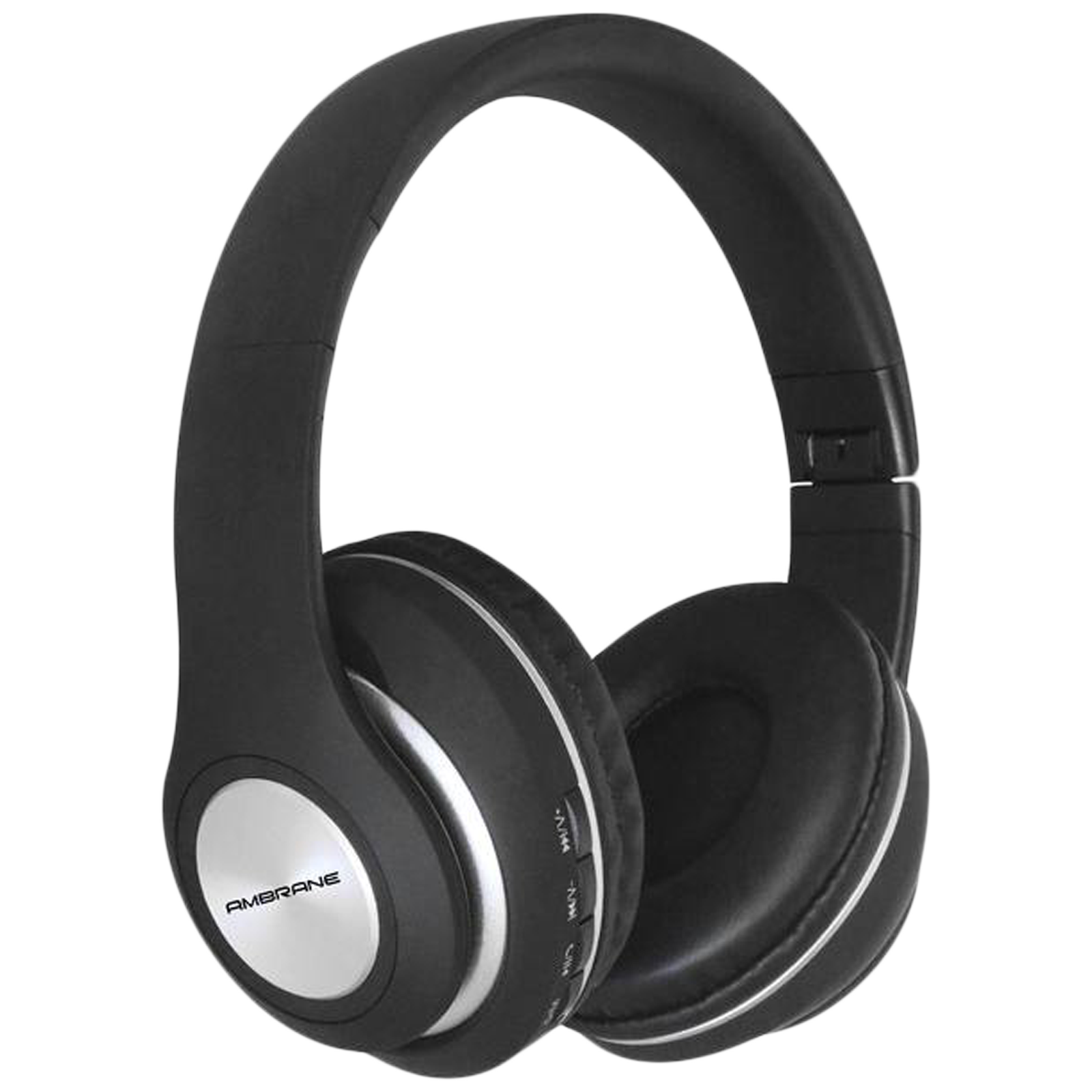 Ambrane WH-83 Over-Ear Wireless Headphone with Mic (Bluetooth 5.0, Multifunctional Controller, Black)