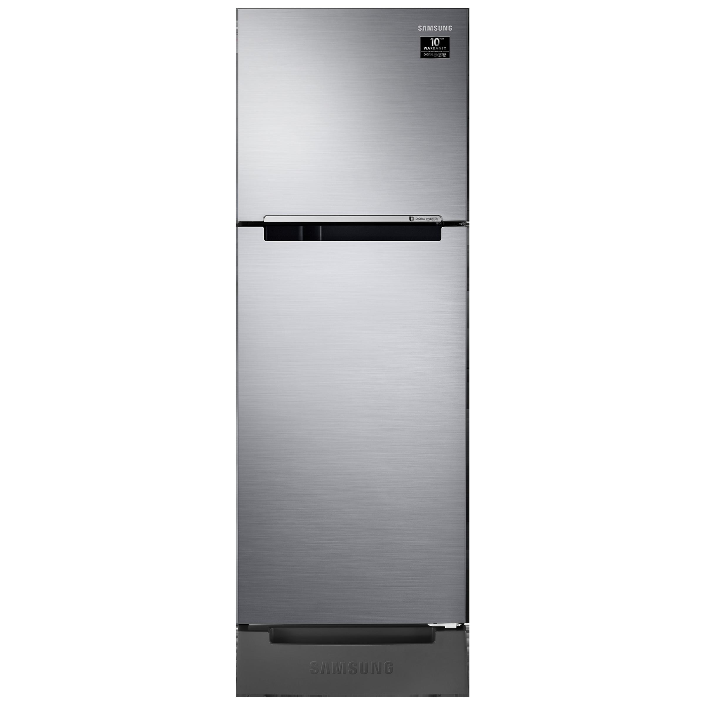 Samsung 253 Litres 2 Star Frost Free Digital Inverter Double Door Refrigerator (Stabilizer Free Operation, RT28A3132S8/HL, Elegant Inox)_1
