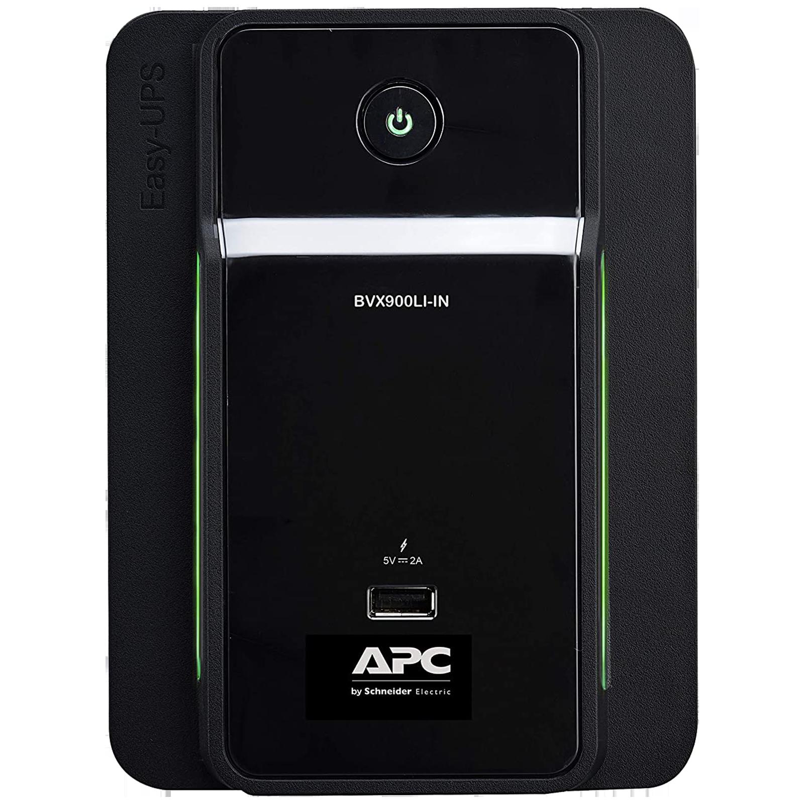 APC UPS For Laptop & Desktop & Mobile & Tablet (Intelligent Battery Management, BVX900LI-IN, Black)_1