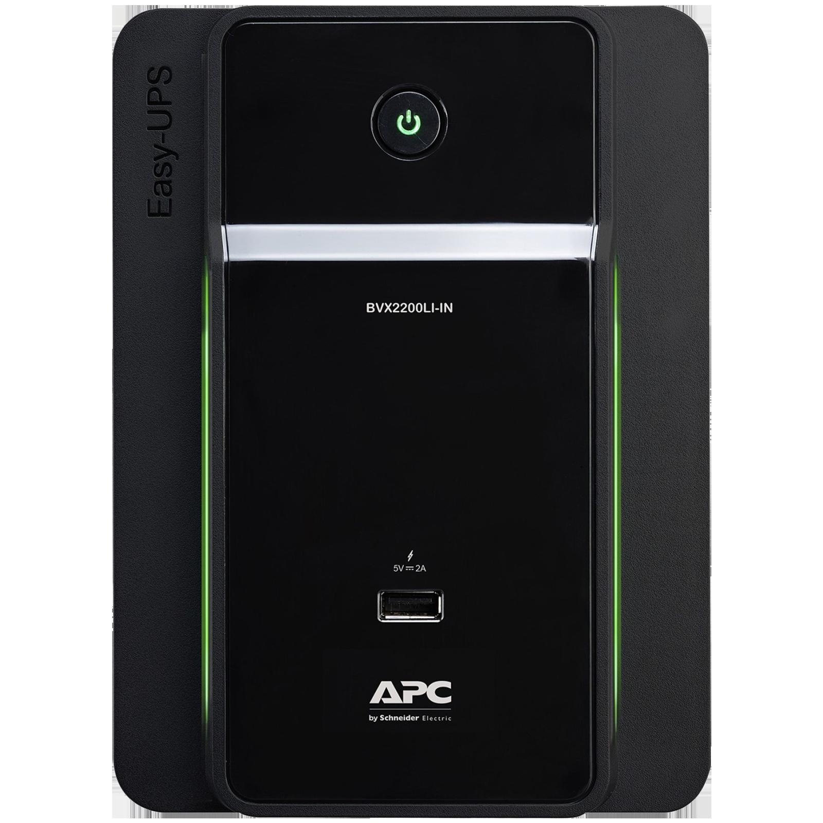APC UPS For Laptop & Desktop & Mobile & Tablet (Intelligent Battery Management, BVX2200LI-IN, Black)_1