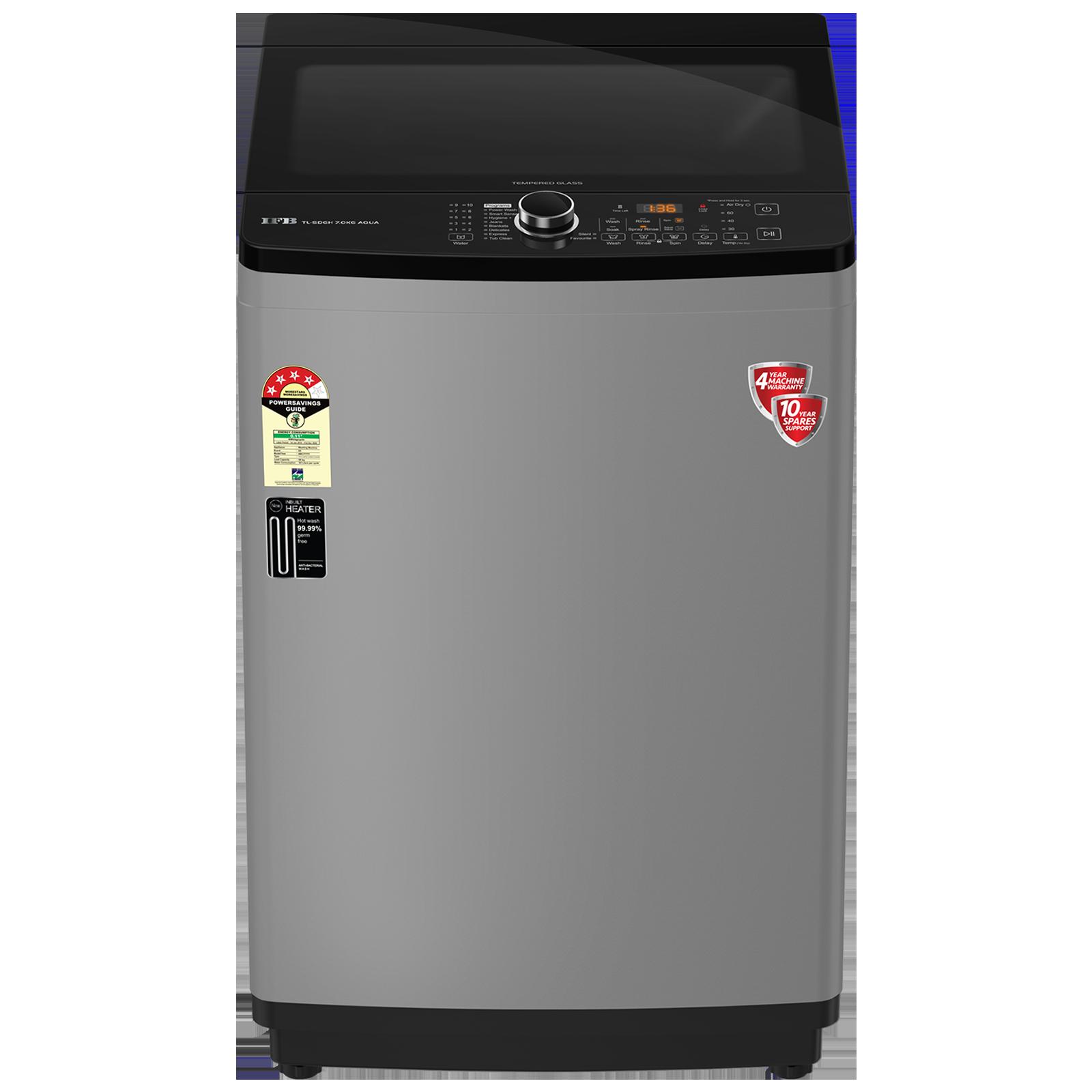 IFB Aqua 7 kg 5 Star Fully Automatic Top Load Washing Machine (Auto Tub Clean, SDGH 7.0, PCM - Medium Grey)_1