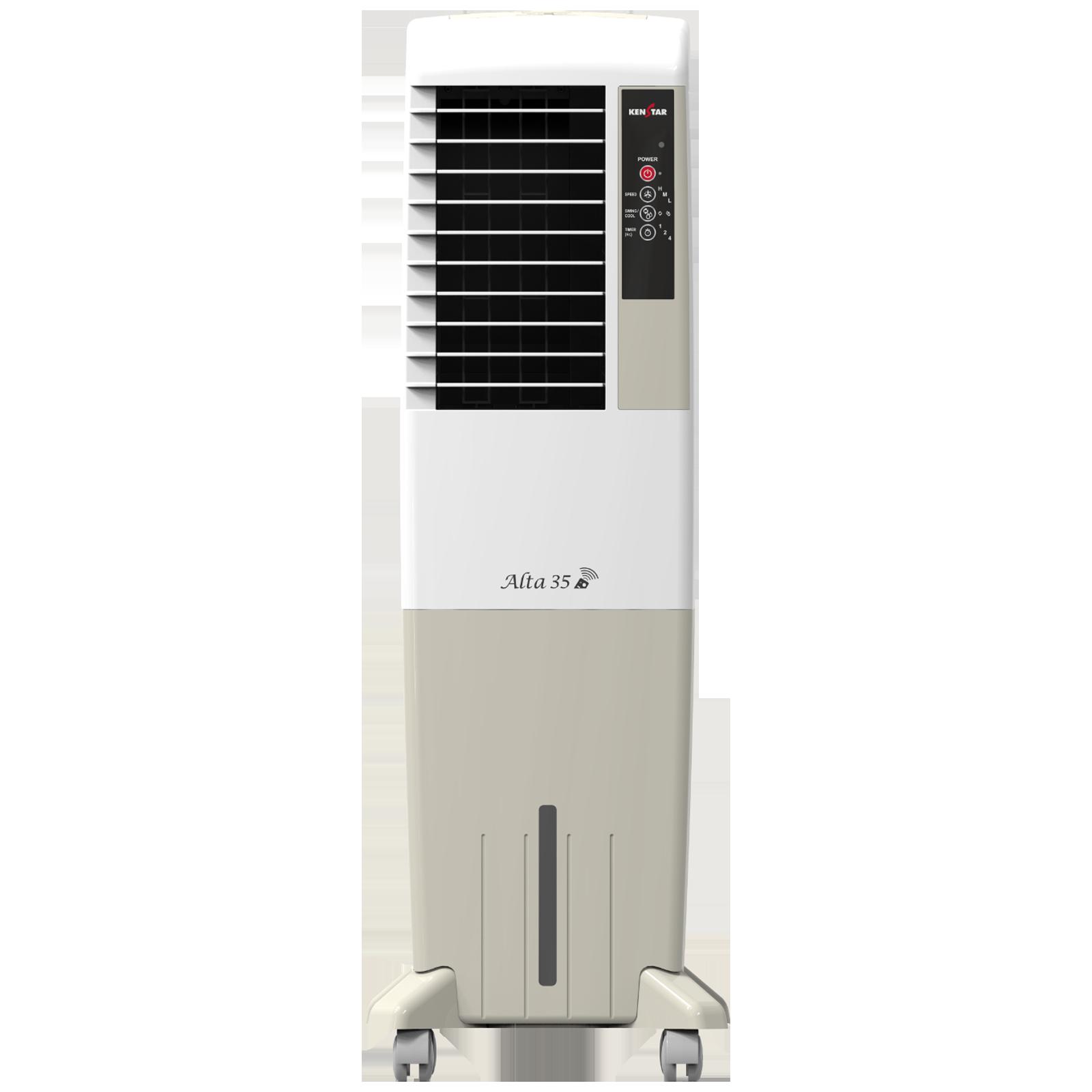 Kenstar Alta 35 Litres Tower Air Cooler (Inverter Compatible, KCLALTGY035BRH-ELM, Grey)_1
