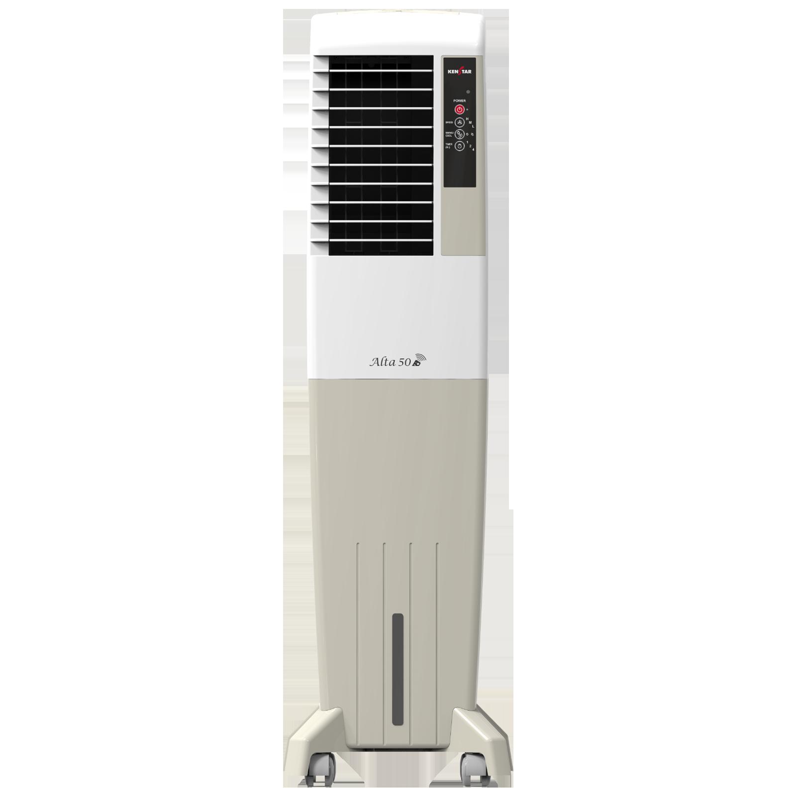 Kenstar Alta 50 Litres Tower Air Cooler (Inverter Compatible, KCLALTGY050BRH-ELM, Gold)_1