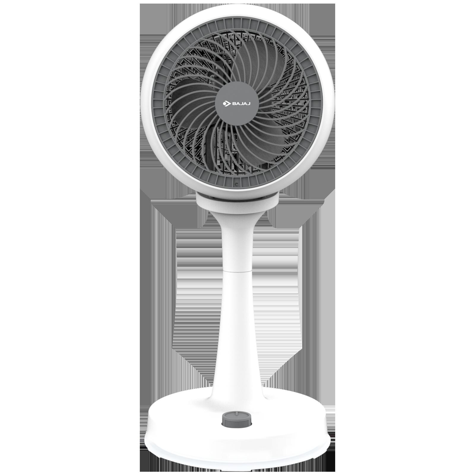 Bajaj Frescon 18cm Sweep 3 Blade Pedestal Fan (High Air Velocity, 251285, White)_1