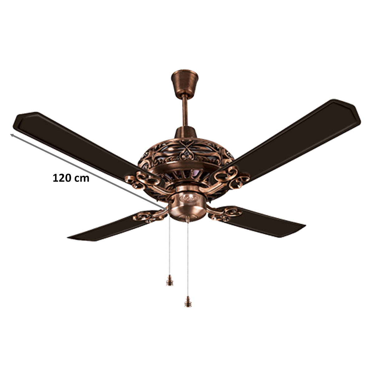 Buy Anchor Dezire 120cm Sweep 3 Blade Ceiling Fan Speed 360 Rpm 14027ab Antique Brass Online Croma