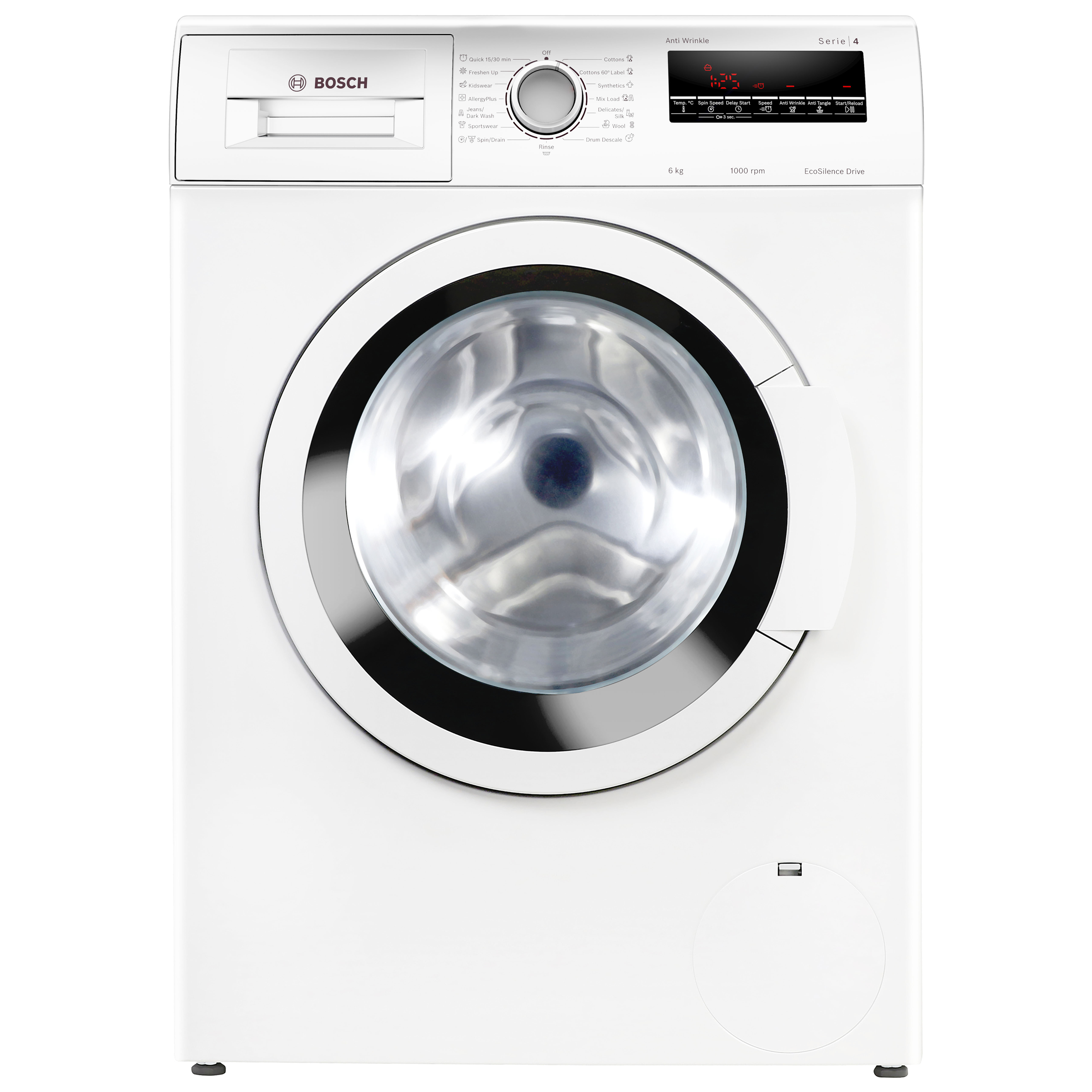 Bosch Serie 4 6 kg 5 Star Fully Automatic Front Load Washing Machine (EcoSilence Drive Motor, WLJ2026WIN, White)_1