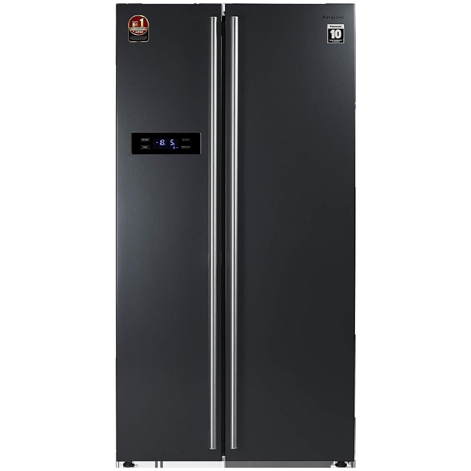 Panasonic 584 Litres Frost Free Intelligent Inverter Side-by-Side Refrigerator (Quick Freeze Mode, NR-BS60VKX1, Dark Grey Steel)_1