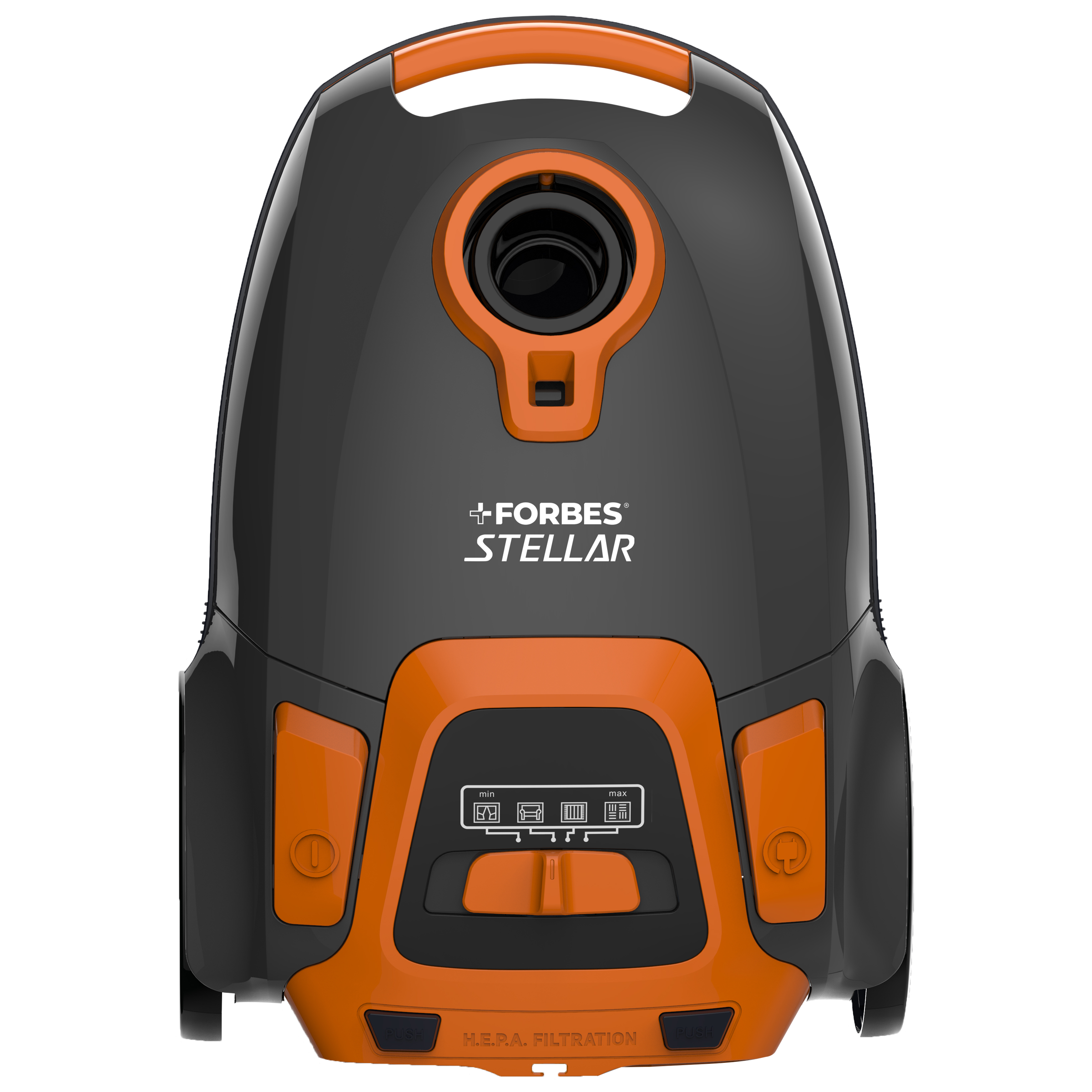 Eureka Forbes Stellar 1600 Watts Dry Vacuum Cleaner (2.5 Litres Tank, GFCDFSTER00000, Dark Grey/Orange)_1