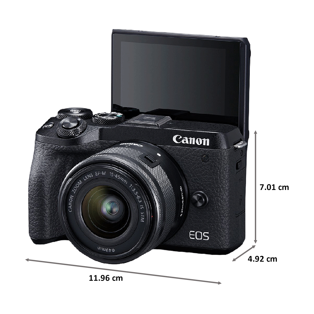 Canon 32.5 MP Mirrorless Camera Body with 15 - 45 mm Lens (EOS M6 Mark II, Black)_2