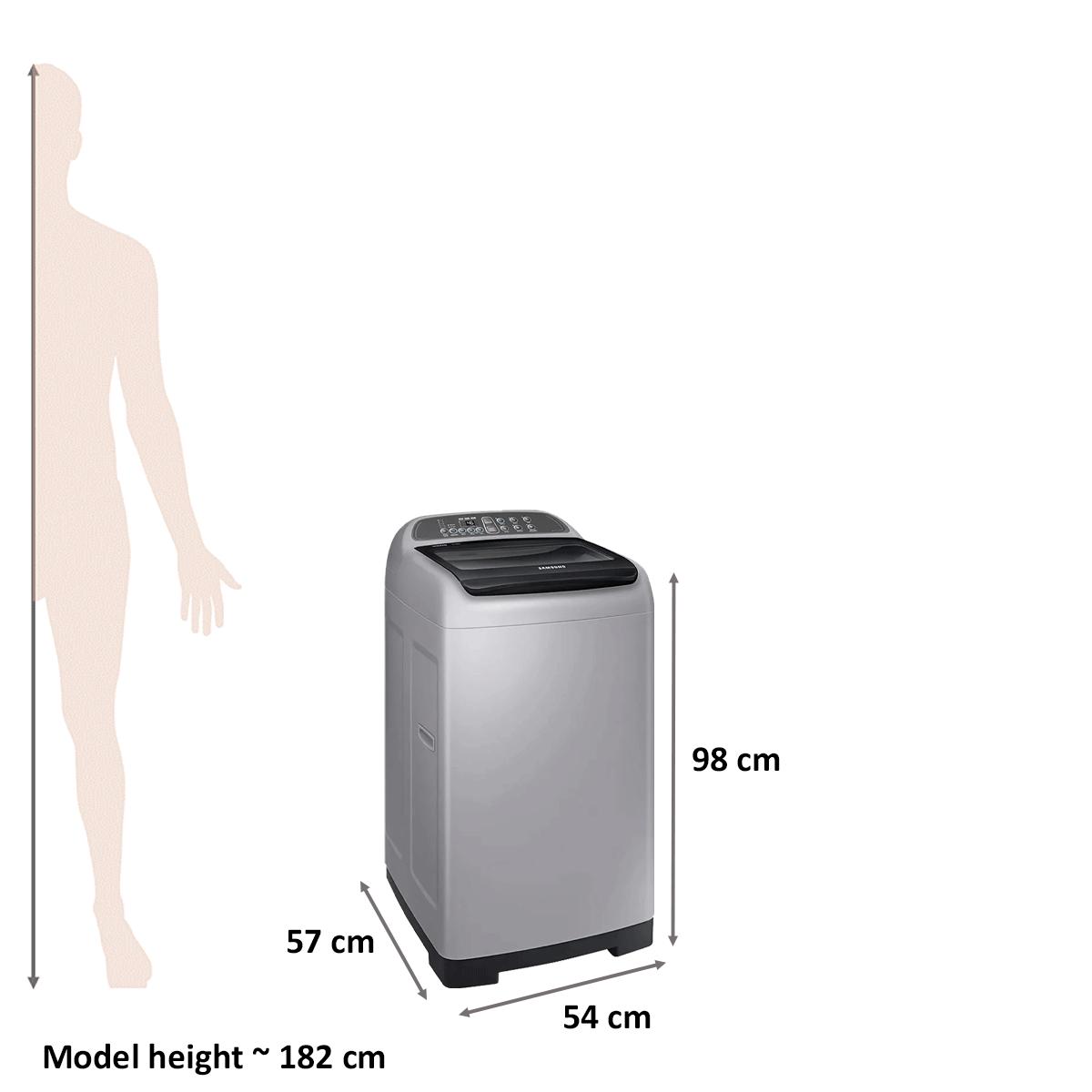 Samsung 6.2 kg Fully Automatic Top Loading Washing Machine (WA62M4200HA/TL, Silver) 2